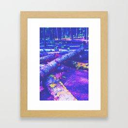 Logs of Colour Framed Art Print