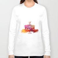 vienna Long Sleeve T-shirts featuring Vienna skyline by jbjart