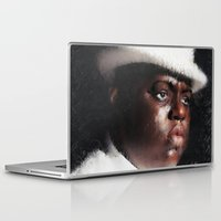 biggie smalls Laptop & iPad Skins featuring Biggie Smalls by André Joseph Martin