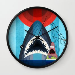 Gonna need a bigger boat Wall Clock