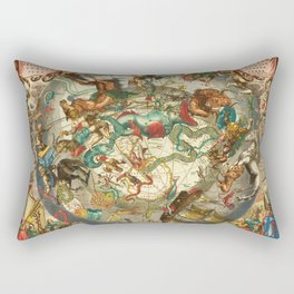 Andreas Cellarius - Celestial Chart of the Southern Sky Rectangular Pillow