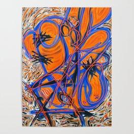 orange trace Poster