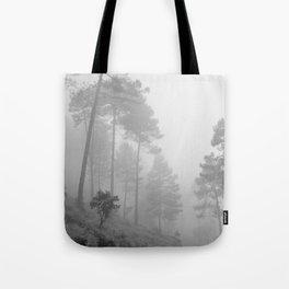 Foggy morning. Wander Tote Bag
