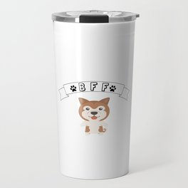 My Akita BFF Dog Best Friend Forever Cute Gift Idea Travel Mug
