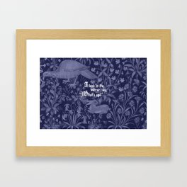 Hold Up Framed Art Print