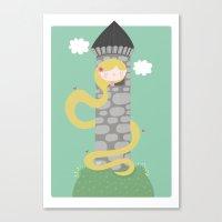 rapunzel Canvas Prints featuring Rapunzel by Maria Jose Da Luz