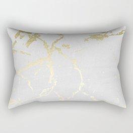 Kintsugi Ceramic Gold on Lunar Gray Rectangular Pillow