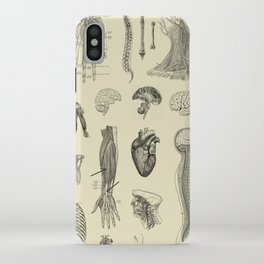 Vintage Anatomy Print iPhone Case
