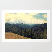 colorado Art Prints featuring Colorado. by Justin White