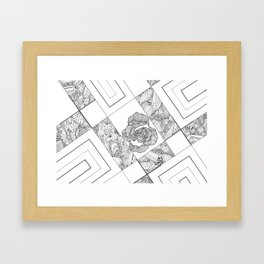Rose Lines Framed Art Print