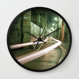 Barcelona, Spain night streets. Wall Clock
