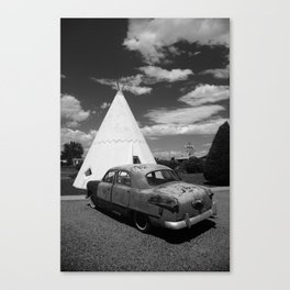 Route 66 Wigwam Motel and Classic Car 2012 Canvas Print