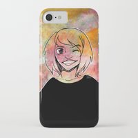 risa rodil iPhone & iPod Cases featuring Risa Multi colour by Laura Monaghan Illustration