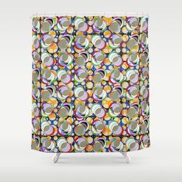 Circle Insanity Multicolored Shower Curtain