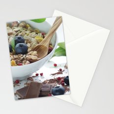 Fine sweet breakfast with fresh fruits Stationery Cards