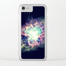 Galaxy Crab Nebula : Deep Pastels Clear iPhone Case