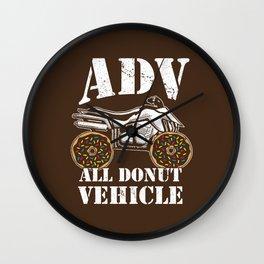 ADV All Donut Vehicle - Donut Quad Bike Wall Clock