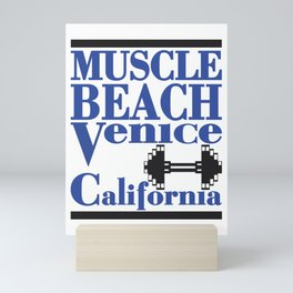 Muscle Beach Venice California Famous Sign Mini Art Print