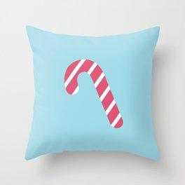 Cute Candy Cane Throw Pillow