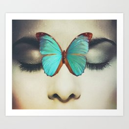 Eyes Closed Butterfly Art Print