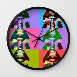 Aleister Crowley Pop Art Wall Clock