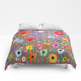 Flowers-Abstracts  Comforters
