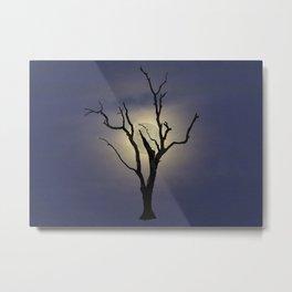 Skeleton Tree Moon Metal Print