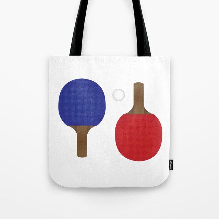 Ping Pong Rackets Tote Bag