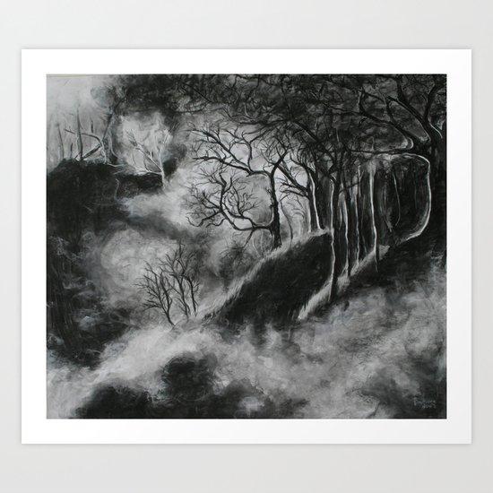 Forest in Black Art Print