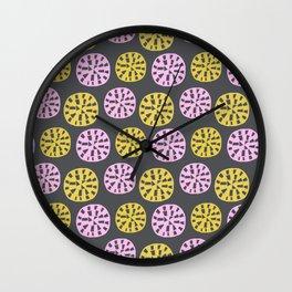 Sundial, 1950's inspired pattern Wall Clock