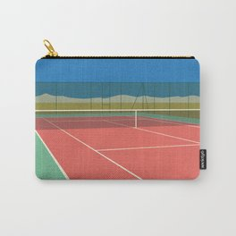 Tennis Court In The Desert Carry-All Pouch