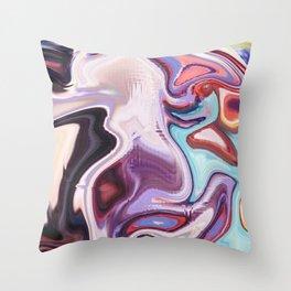 pixel glitch marble Throw Pillow