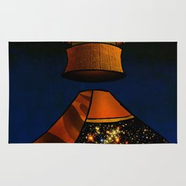 Guzo: King of Rain - Surrealism Collage Rug