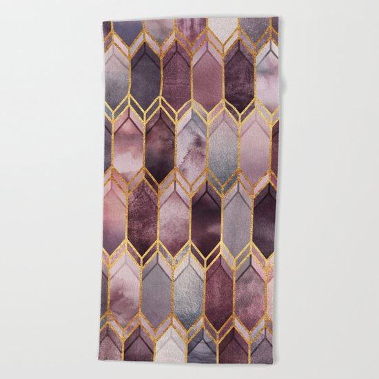 Dreamy Stained Glass 1 Beach Towel