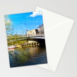 York City Lendal bridge with textured background Stationery Cards