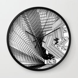 History of Art in Black and White.  Pop Art Wall Clock