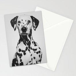 Grey minimalism | Dog portrait | Dalmatian Art Print Stationery Cards