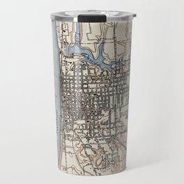 Vintage Map of Baton Rouge Louisiana (1906) Travel Mug