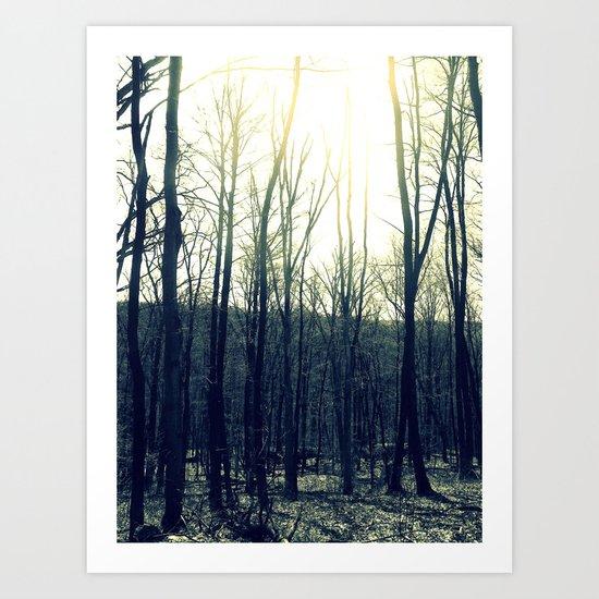 Darkly Looming Art Print