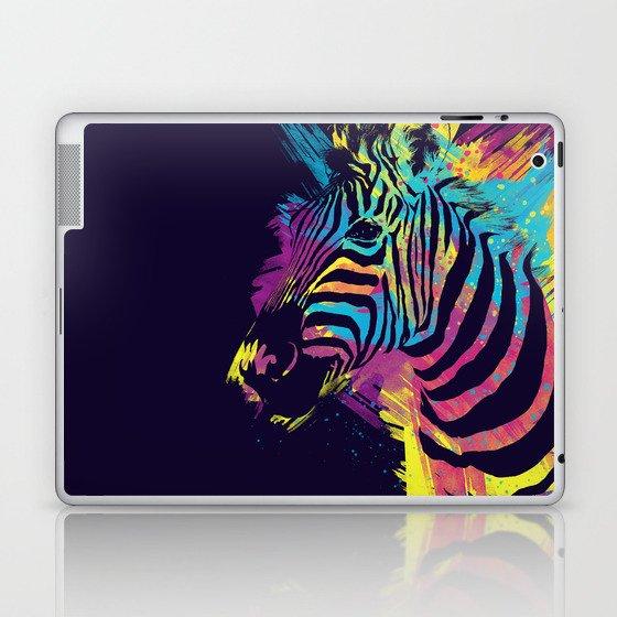 Zebra Splatters Colorful Animals Laptop & iPad Skin