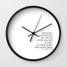 wall clock. brave girl. no 17 Wall Clock