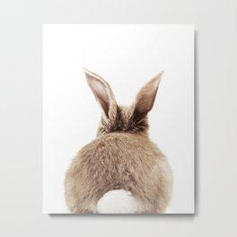 Bunny Back Metal Print
