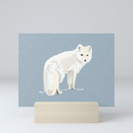 Save the Arctic fox Mini Art Print