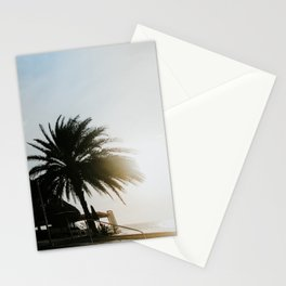 Shadow view sunset infinity pool Coral Estate | Colourful Travel Photography | Curaçao, Antilles Stationery Cards