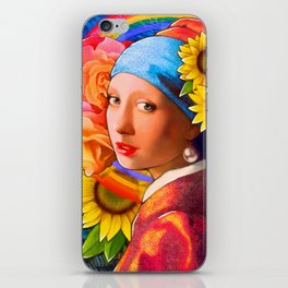 Girl With A Pearl Earring Collage iPhone Skin