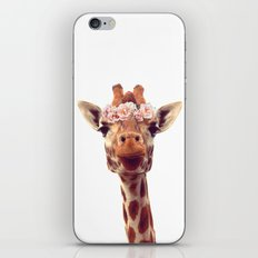 Flower crown giraffe iPhone & iPod Skin