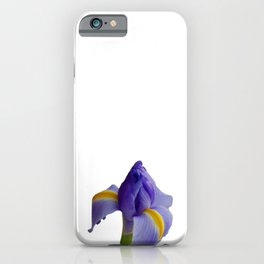 Blue and Yellow Iris iPhone Case