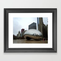 Chicago Bean Framed Art Print
