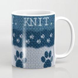 Pet Lover, Knitter, Artist. Blue. Coffee Mug