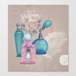 Antique Victorian Perfume Bottles Canvas Print